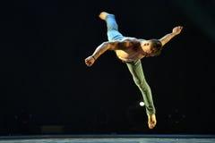 Ballet-spectacle contemporain à la scène Image libre de droits