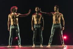 Ballet-spectacle contemporain à la scène Photographie stock libre de droits
