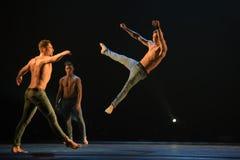 Ballet-spectacle contemporain à la scène Photo libre de droits