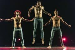 Ballet-spectacle contemporain à la scène Photos stock