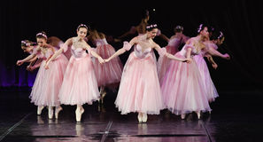 Ballet. On stage, the performance of children's dance groups, St. Petersburg, Russia Stock Photography