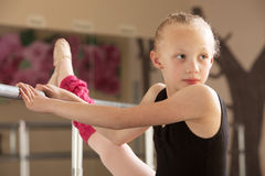 Ballet Student Looks Over Stock Photo
