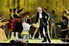 Ballet sur la glace Images libres de droits