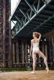 Ballet sur une plate-forme rouillée Image libre de droits