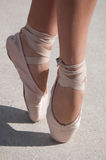 Ballet toe shoes Stock Images