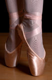 Ballet toes. Ballerina with ballet shoes standing with pointed toes Stock Photo