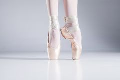 Ballet On Toes. Royalty Free Stock Photo