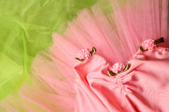 Ballet Tutu. Pink Ballet costume on a bright green background Royalty Free Stock Images