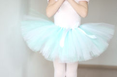 Ballet Tutu closeup. Light-blue ballet tutu closeup royalty free stock photos