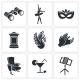 Ballet Vector Icons Set Stock Photo
