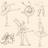 Ballet. Vector sketches of the theme of the ballet Royalty Free Stock Image
