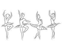 Ballet on white background Stock Images