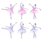 Ballet woman-dancers. Royalty Free Stock Photos