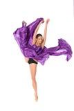 Balletdanser in de vliegende kleding Royalty-vrije Stock Fotografie