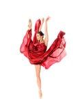 Balletdanser in de vliegende kleding Stock Fotografie