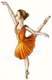 Balletdanser (kleur) Stock Foto