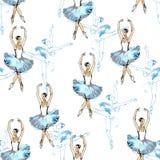 Balletdansers naadloos patroon Stock Afbeelding