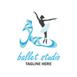 Balletembleem voor balletschool Vector illustratie Stock Foto