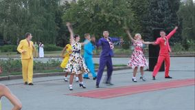 Balletgroep Academisch Lied en Dansensemble o stock videobeelden