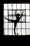 Balletsilhouet 1 Stock Afbeeldingen