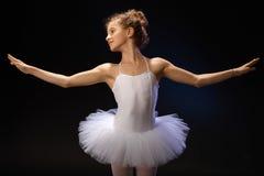 Balletstudent het uitoefenen Stock Foto's