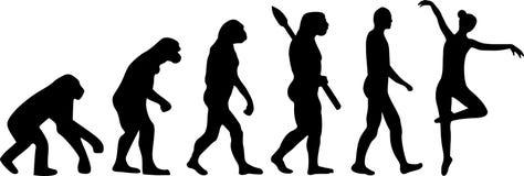 Ballett baleriny ewolucja ilustracja wektor