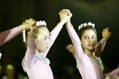 Ballett-Leistung an der Wien-Kugel in Bucharest lizenzfreies stockbild