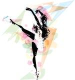Ballett-Tänzerillustration vektor abbildung