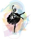 Ballett-Tänzerillustration stock abbildung