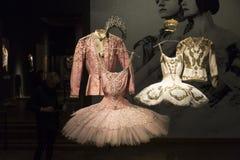 Ballett und Leidenschaftsausstellung im Museum von Künsten und Handwerk in Zagreb, Kroatien Stockbild
