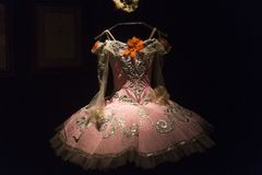 Ballett und Leidenschaftsausstellung im Museum von Künsten und Handwerk in Zagreb, Kroatien Stockbilder