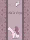 Ballettdesignkarte lizenzfreie abbildung