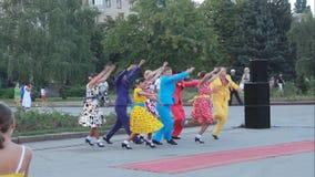 Ballettgruppe akademischen Lied-und Tanz-Ensembles O stock footage