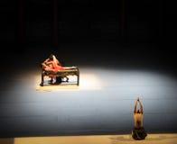 Balletto affare-moderno di amore: Trollius chinensis Immagine Stock