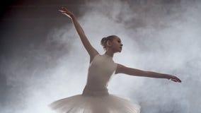 Balletto di dancing della ragazza in scena stock footage