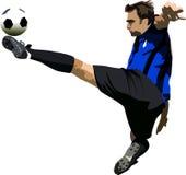 Balletto di gioco del calcio Fotografie Stock Libere da Diritti