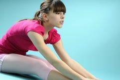 Balletto di pratica dell'istruttore bianco Immagini Stock Libere da Diritti