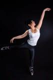 Balletto di pratica della ragazza Fotografie Stock