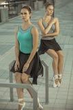 Balletto nella città Fotografie Stock