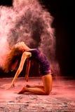 Balletto rosa di jazz dei capelli della polvere Immagine Stock