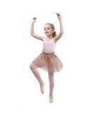 Balletto studing della bambina Fotografie Stock Libere da Diritti