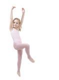 Balletto studing della bambina Immagini Stock Libere da Diritti