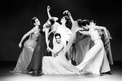 Balletttänzer während der Duyos-Sammlung an SS 2015 MBFW Madrid Lizenzfreies Stockbild