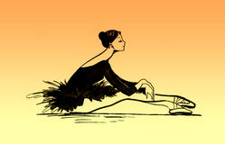 Balletttänzerabbildung Stockfotografie