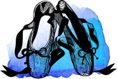 Balletttanz-Studiosymbol - Illustration ENV 10 lizenzfreie abbildung