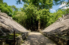Ballgame court at Coba Stock Photo