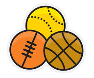 Ballgame logo Stock Image