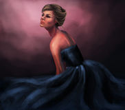 Ballgown da mulher Foto de Stock Royalty Free