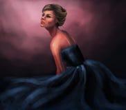 Ballgown de la mujer stock de ilustración