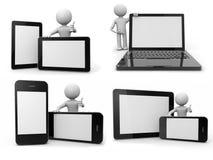 Ballhead avec des dispositifs de supports électroniques Images libres de droits